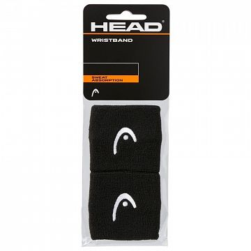 "Head Wristband 2,5"" Black"